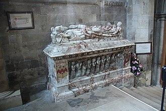 Edwin Sandys (bishop) - Memorial in Southwell Minster