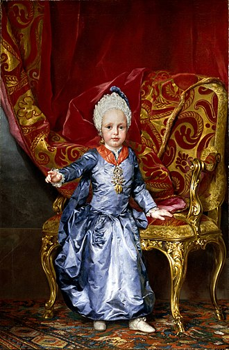 Francis II, Holy Roman Emperor - Archduke Francis at the age of 2, 1770. by Anton Raphael Mengs