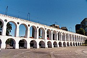 Carioca Aqueduct, built in the first half of the 18th century.