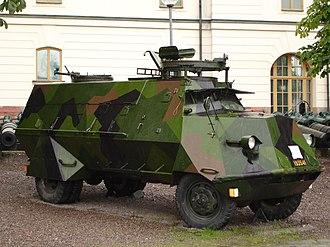 Swedish Army Museum - Image: Armoured car, Army Museum Stockholm