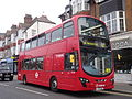 Arriva London DW564 on Rail Replacement, Turnham Green (13514334943).jpg
