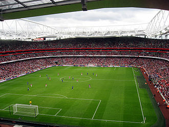Emirates Cup - A wide shot of the Emirates Stadium, where Arsenal faced Real Madrid in 2008.