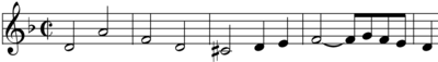 Sujet de la fugue n°1