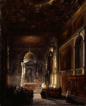 Federico Moja - Interno della cappella del Rosario nella Church of Santi Giovanni e Paolo a Venezia (Fondazione Cariplo)