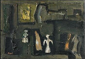 Composizione o Composizione e figure, 1957 (Fondazione Cariplo)