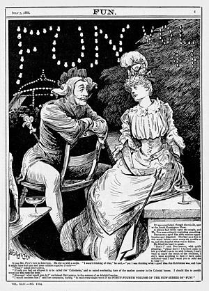 Arthur Boyd Houghton - Houghton cartoon published by ''Fun'' magazine in 1886