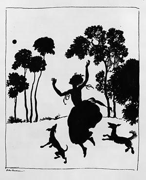 Arthur Rackham - Cinderella silhouette illustration