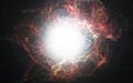 Artist's impression of dust formation around a supernova explosion.jpg
