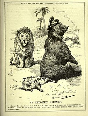 Russian Bear - Image: As Between Friends (Punch magazine, 13 December 1911)