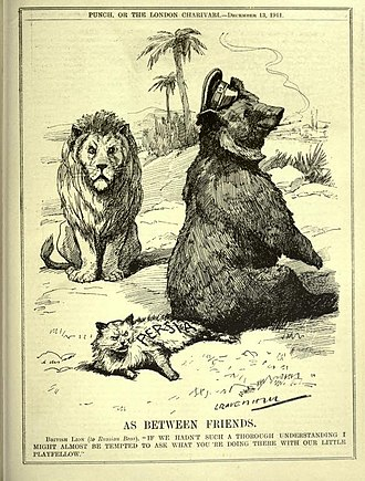 Russian Bear - Image: As Between Friends (Punch magazine, 13 December 1911)