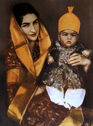 Mukarram Jah - Jah with his mother Durru Shehvar