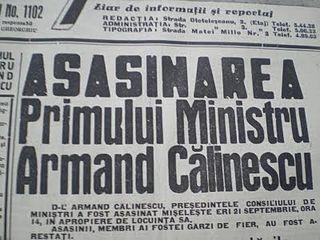 Assassination of Armand Călinescu