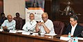 """Ashok Gajapathi Raju Pusapati addressing at the signing ceremony of the MoU for joint development and launch of the Post Graduate Diploma in """"AviationAirport Operations"""" between GMR Aviation Academy and Rajiv Gandhi National.jpg"""