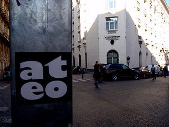 Atheist sticker in Madrid in 2008.