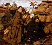 Attributed to Jan van Eyck, Netherlandish (active Bruges), c. 1395 - 1441 - Saint Francis of Assisi Receiving the Stigmata - Google Art Project.jpg