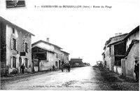 Auberives sur varèze (auberives-de-roussillon), route du péage, 1910, p 13 l'Isère les 533 communes - L Guichard Imp-Photo, Vienne, Bernard, éditeur.tif