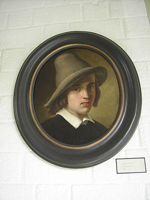 August von Wille - Self-portrait (1848) at the  Fritz von Wille Museum, Bitburg