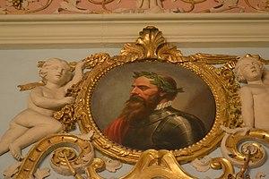 Ausiàs March - Image: Ausiàs March, sala de personatges il·lustres del palau del marqués de Dosaigües 02