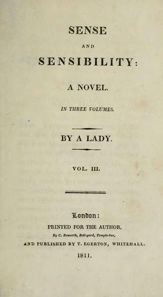 File:Austen - Sense and Sensibility, vol. III, 1811.djvu