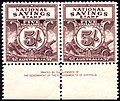 Australia 5 Shilling War Savings Stamps Imprint Block.jpg
