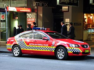 Australian Protective Service - Current AFP Uniformed Protection patrol car