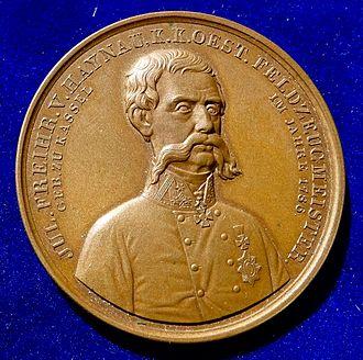 Julius Jacob von Haynau - Austrian Medal honouring Haynau in 1849, obverse.