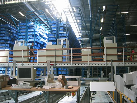 An automatic storage warehouse for small parts Automatisches Kleinteilelager.jpg