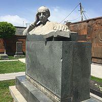 Avetik Isahakyan's tomb at Yerevan's Komitas Pantheon.JPG