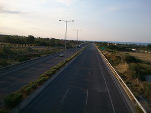 Highways in Greece - Motorway A1 near Katerini, Greece