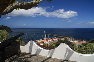 Lajes das Flores - The overlook and former fort that defended the port of Lajes