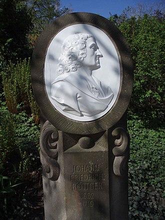 Johann Friedrich Böttger - Böttger monument in Dresden
