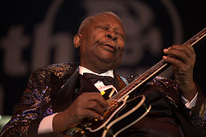 Guitar solo - American blues guitarist and singer B.B. King in 2009.