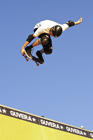 Tony Hawk - Hawk doing skate jam in 2012