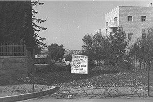 Baka, Jerusalem - Baka as a military zone, 1948