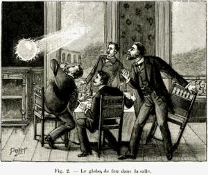 Ball lightning - A 1901 depiction of ball lightning