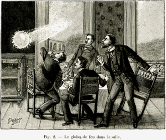 Ball lightning - A 1901 depiction of ball lightning