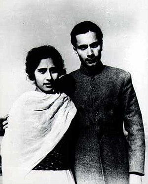 Balraj Sahni - Balraj Sahni with his wife Damayanti, 1936.