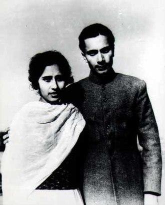 Balraj Sahni - Balraj Sahni with his wife Damayanti, 1936.