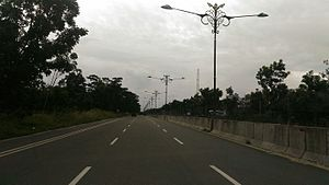 Kampar Regency - Pekanbaru-Bangkinang Highway Road, across the regency