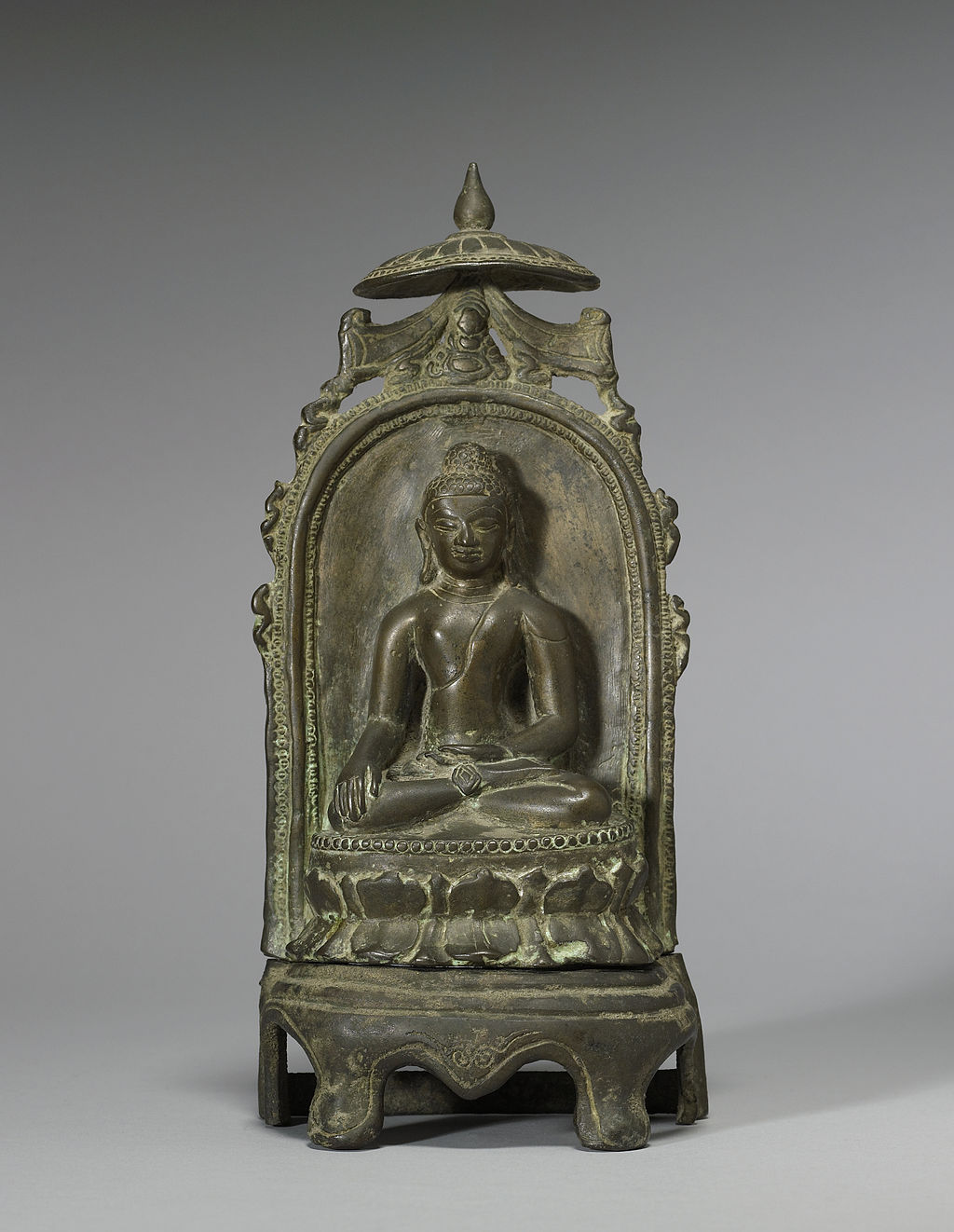 Bangladeshi - Enthroned Seated Buddha - Walters 542713