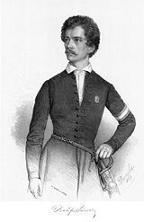 Petőfi 1848-ban (Barabás Miklós litográfiája)
