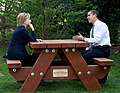 Barack Obama and Hillary Clinton speakings together.jpg