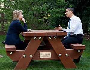 2008 Democratic National Convention - Senators Hillary Clinton and Barack Obama