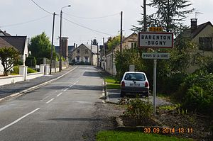 Barenton-Bugny - The road into Barenton-Bugny