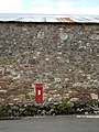 Barn wall with Victorian letterbox - geograph.org.uk - 1320675.jpg