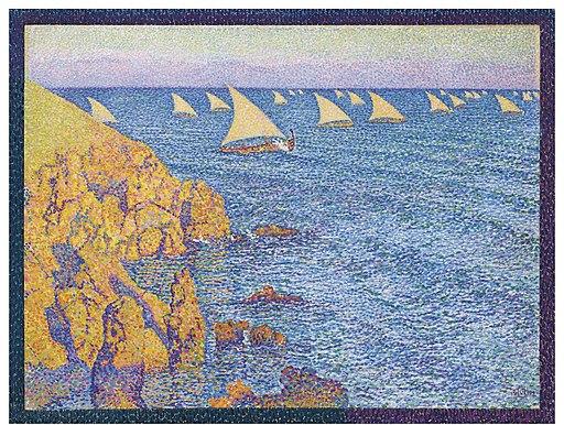 Barques de pêche-Méditerranée by Théo van Rysselberghe