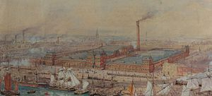 Barrow-in-Furness - Painting of the Barrow Jute Works in 1875