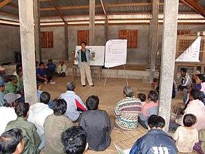 Agricultural extension - Agricultural extension meeting in Laos, 2006