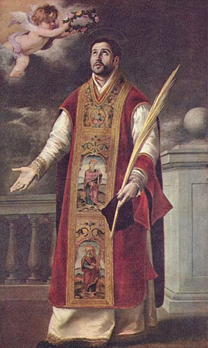 Martyrs of Córdoba - Roderick, a priest of Cabra, Spain, executed at Córdoba, Bartolomé Esteban Perez Murillo.