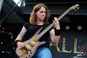 Jeanne Sagan - Image: Bassist Jeanne Sagan of All That Remains